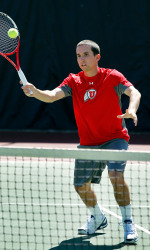 Junior Devin Lane clinched the match for the Utes from the No. 4 singles position.