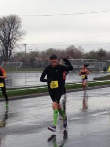 Go Graeme!!! Volunteer Assistant Coach Graeme Cox running the Salt Lake City Half Marathon in the rain.
