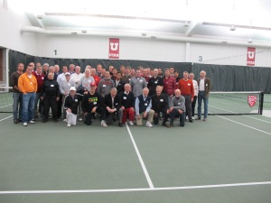 Young and old at the 2013 Tennis Alumni Reunion