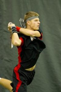 Senior Dmytro Mamedov wins in style on Senior Day.