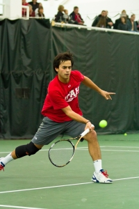 Captain Alejandro Medinilla clinched the match for the Utes over the Oregon Ducks in the 1st round of the Pac-12 Championships.