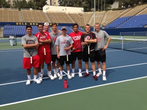 No. 73 Utes at UCLA last weekend, will face college tennis powerhouses Cal and Stanford next.