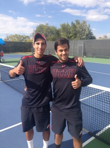 Hamza and Medinilla celebrate their tournament wins.