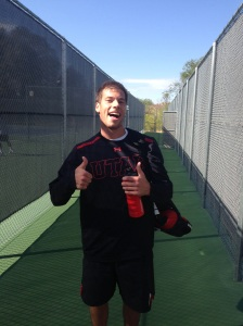 Ben Tasevac is a happy camper after beating yet another BYU player!