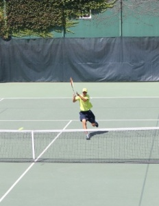 Hankuliyev in action at the USTA Zonals at the Salt Lake Swim & Tennis Club