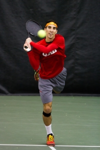 Slim Hamza – Monday, February 16, 2015 – Eccles Tennis Center – Salt Lake City, UT Photo Credit: Chris Samuels, Daily Utah Chronicle