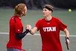 Cedric Willems and Matt Cowley – Monday, February 16, 2015 – Eccles Tennis Center – Salt Lake City, UT Photo Credit: Chris Samuels, Daily Utah Chronicle