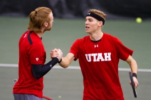 Cedric Willems and Matt Cowley hold a 10-4 dual-match doubles record - Photo Credit: Chris Samuels, Daily Utah Chronicle
