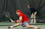 Parker McGuiness – Monday, February 16, 2015 – Eccles Tennis Center – Salt Lake City, UT Photo Credit: Chris Samuels, Daily Utah Chronicle