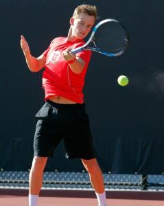 Freddy McGeehan, Utah Men's Tennis, Salt Lake City, UT. (Photo / Steve C. Wilson / University of Utah)