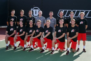 Team, Utah Men's Tennis August 28, 2015 in Salt Lake City, UT. (Photo / Steve C. Wilson / University of Utah)