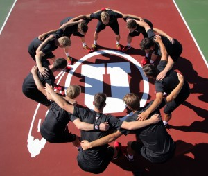 Team, Utah Men's Tennis August 28, 2015 in Salt Lake City, UT. (Photo / Steve C. Wilson / University of Utah)