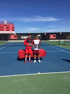 Dan Little (left) Runners Up at the 2015 ITA Regional Championships