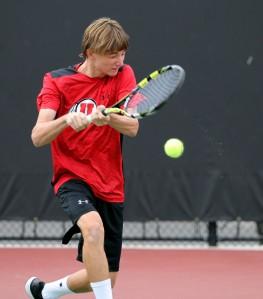 Utah men's tennis Benjamin Heck